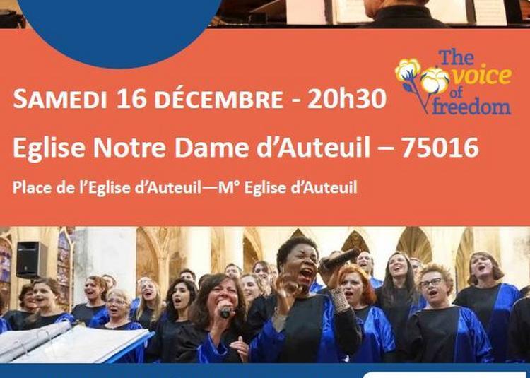Concert gospel musique sacrée en faveur du Secours Catholique à Paris 16ème