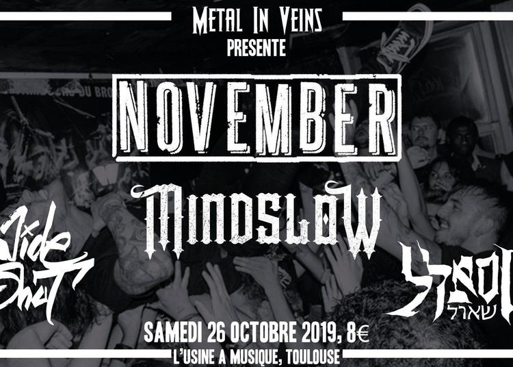 Concert Hardcore Avec : November / Mindslow / Wide Shut / Sheol à Toulouse