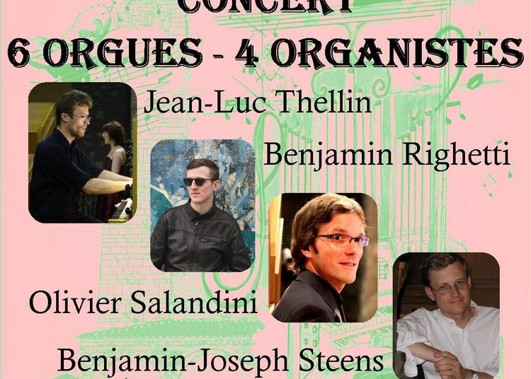 Concert « 6 Orgues et 4 Organistes» à Nice