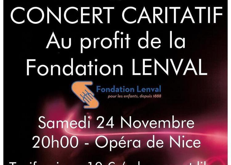 Concert caritatif au profit de la Fondation LENVAL à Nice