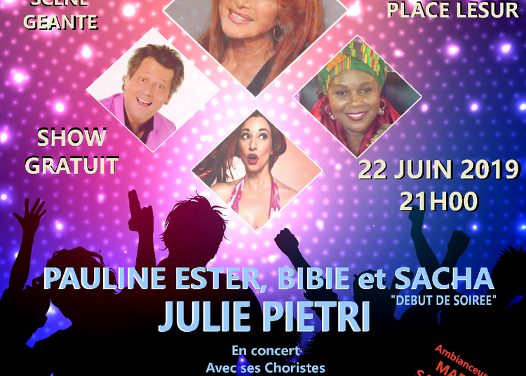 Concert Pauline Ester, Bibie, Julie Pietri et Sacha à Guise