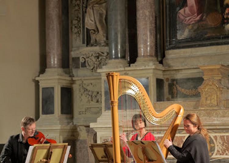 Trio Mélusine et l'organiste Régis Prud'homme à Gueugnon