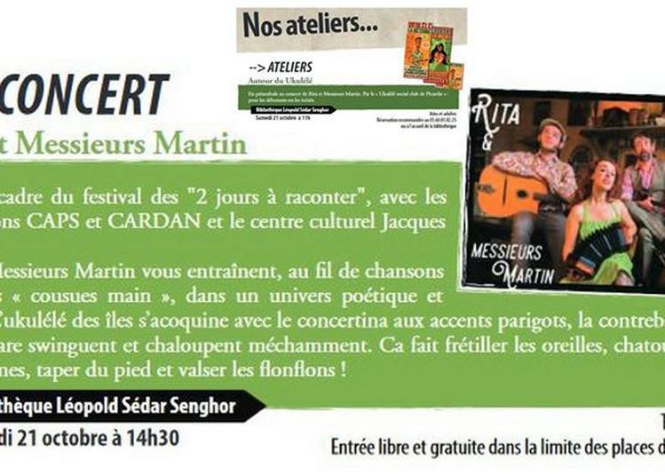 Rita & Messieurs Martin / Atelier ukulele (USC2P) à Amiens