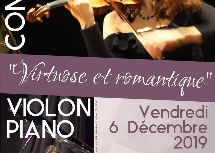 Concert romantique et virtuose violon piano à Tours
