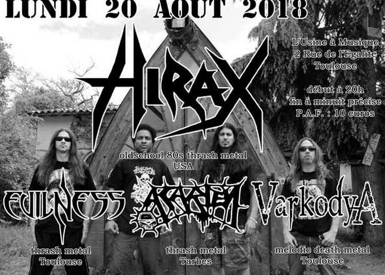 Concert Thrashmetal Avec Hirax, Acarien, Evilness, Varkodya à Toulouse