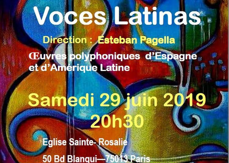 Concert Voces Latinas à Paris 13ème