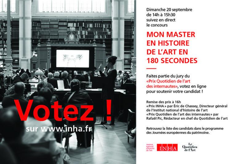 Concours: Mon Master En Histoire De L'art En 180 Secondes à Paris 2ème