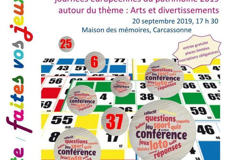 Conférences à Carcassonne