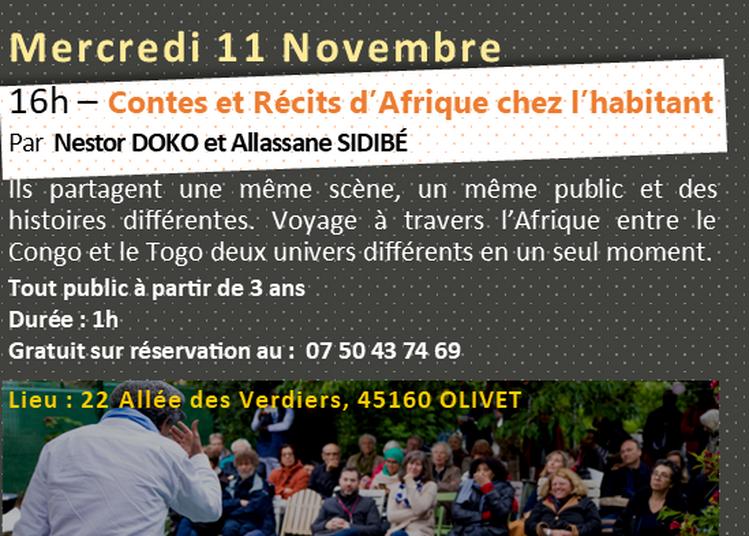 Contes et Récits d'Afrique chez l'habitant à Orléans