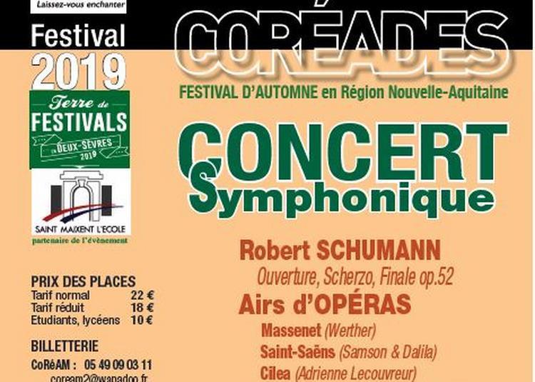 Coréades : Concert symphonique et airs d'opéra à Saint Maixent l'Ecole