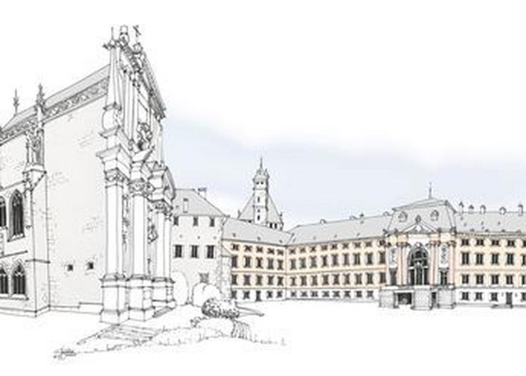 Cour D'honneur Au Château Des Ducs De Savoie à Chambery