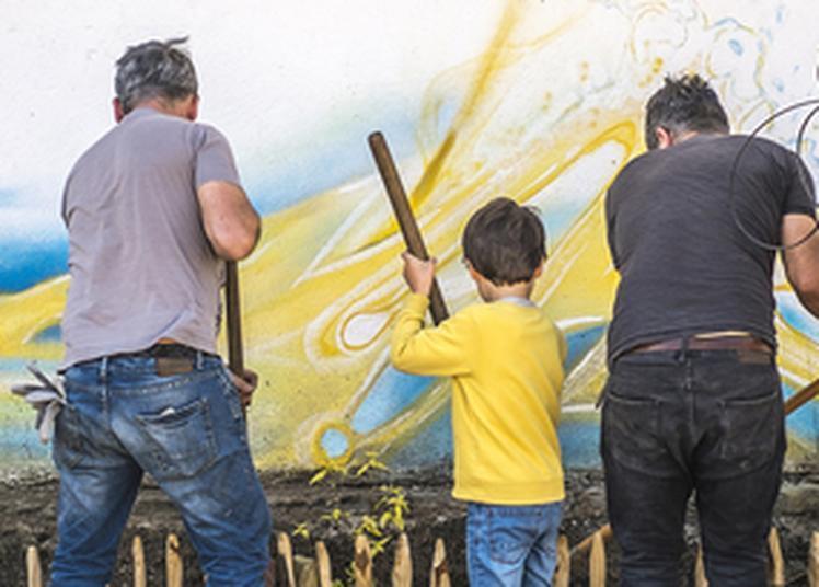 Création D'une Fresque Street Art Ferroviaire à Pau