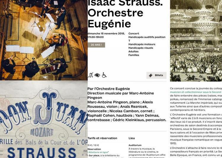 Isaac Strauss : Dance music d'une République à une autre à Paris 3ème