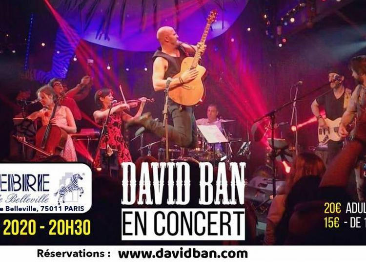 David Bán - Concert à Paris 11ème