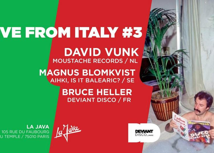 DDP Presents Love From Italy #3 Feat. David Vunk à Paris 10ème