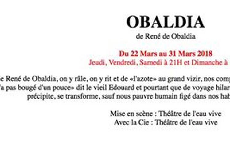 De Obaldia à Nice