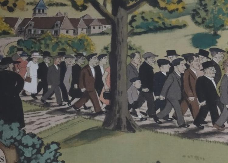 Découverte Commentée De La Frise De La Fête Des Moissons (1948) Du Journaliste Caricaturiste Pierre Lestrade. à Vegennes