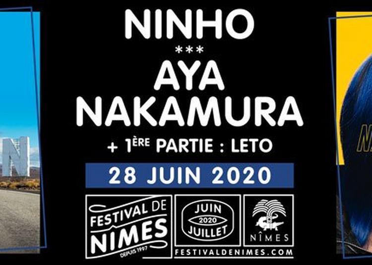 Aya Nakamura et Ninho au Festival de Nîmes 2020 à Nimes