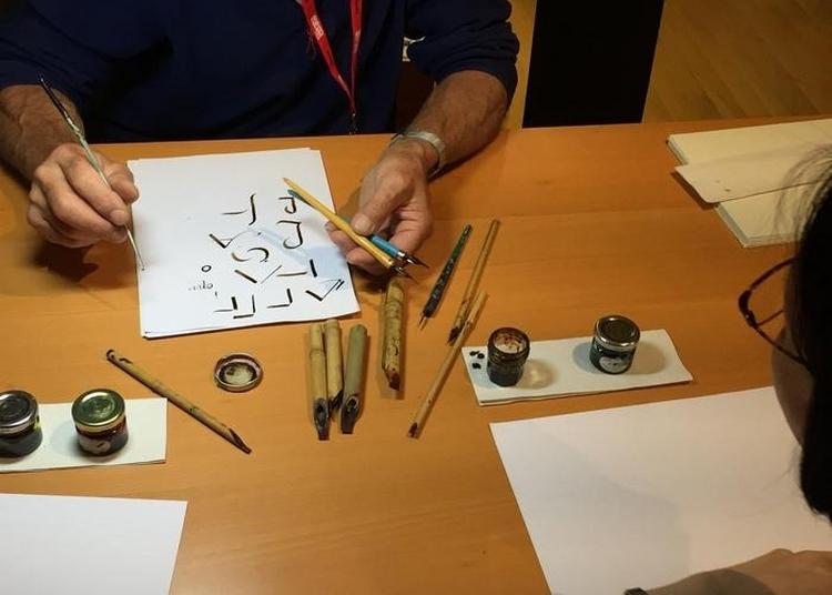 Démonstration De Calligraphie Au Musée De L'imprimerie à Lyon