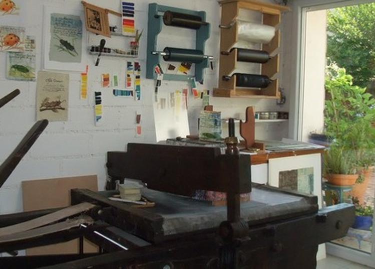 Démonstration De L'impression D'une Lithographie Et/ou D'une Gravure à Toulouse