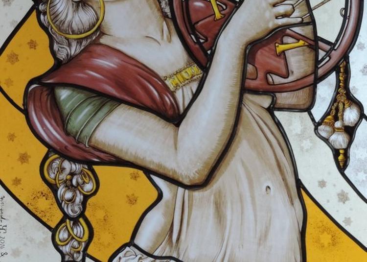 Démonstration De Peinture Sur Verre à Conches en Ouche