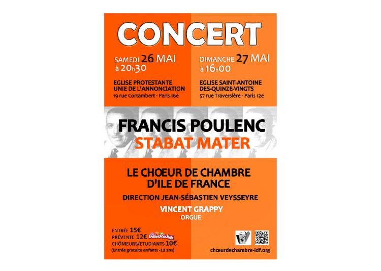 Francis poulenc / stabat mater à Paris 16ème