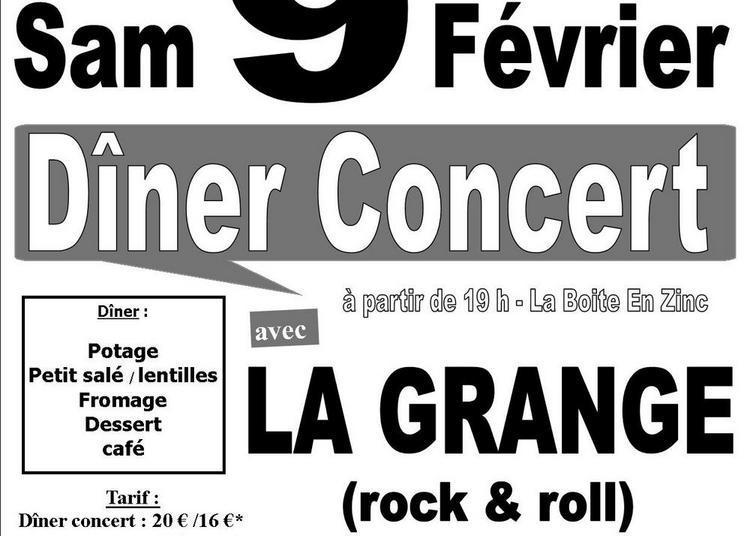 Diner Concert Avec Le Groupe La Grange à Chanteix
