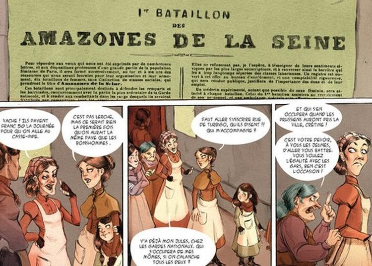 Discussion Croisée Entre Wilfrid Lupano, Lucy Mazel Et L'association Des Amies Et Amis De La Commune De Paris 1871. à Issy les Moulineaux