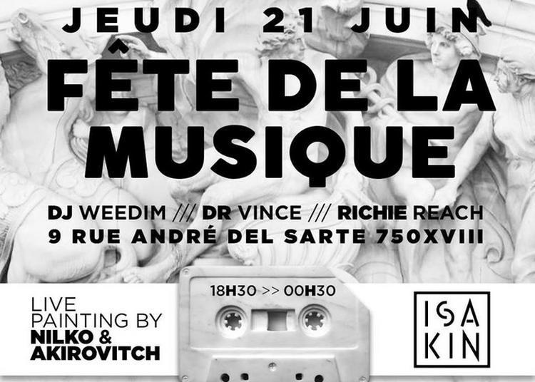 Dj Weedim / Dr Vince / Richie Reach à Paris 18ème