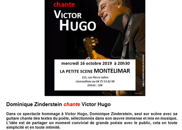 Dominique Zinderstein chante Victor Hugo à Montelimar