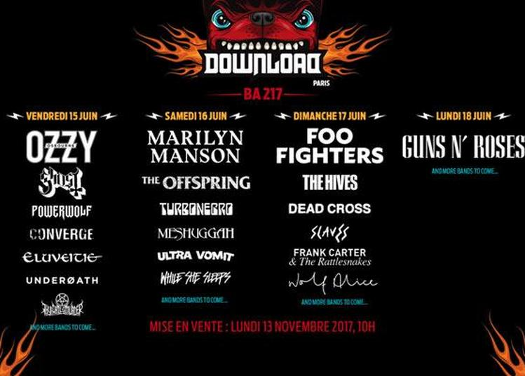 Download Festival 2018 Pass 1j à Bretigny sur Orge