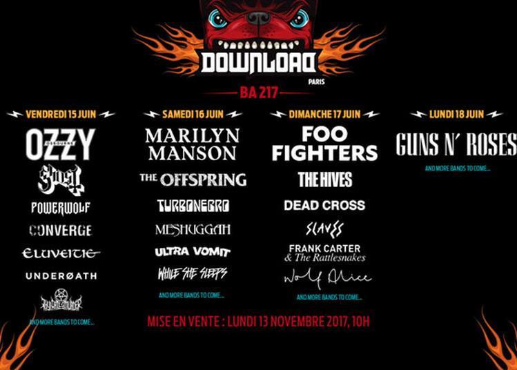 Download Festival 2018 - Pass 3j à Bretigny sur Orge
