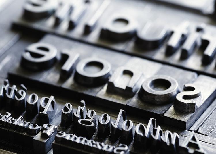 Édition à Tirage Limité De Typographie à Mers sur Indre