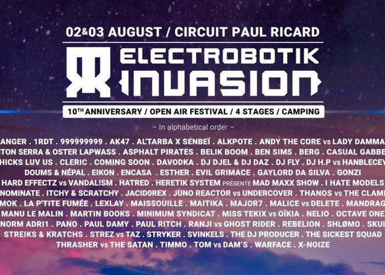 Electrobotik Invasion-Ticket 1 Jour à Le Castellet