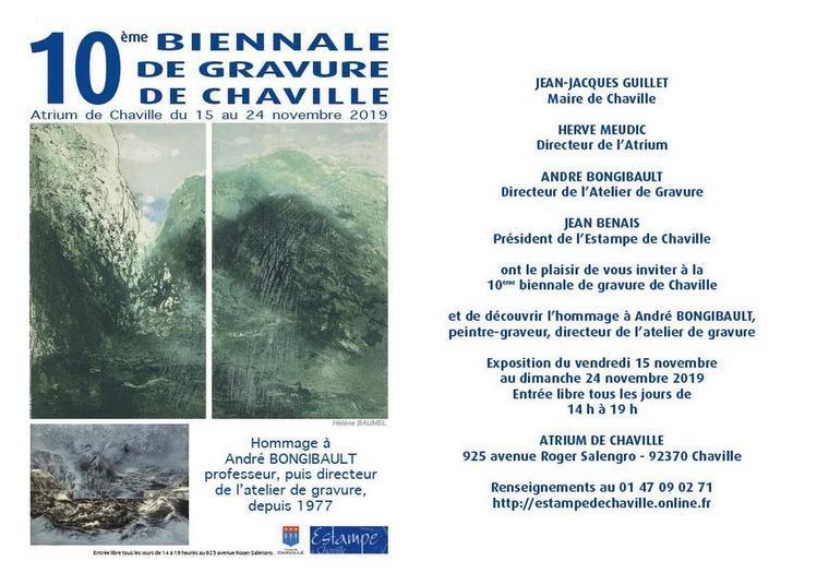 10ème biennale de gravure de chaville à Chaville