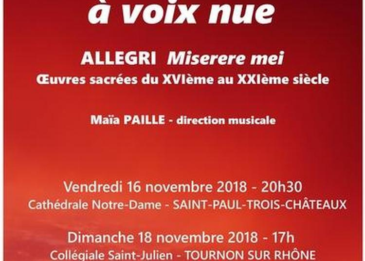 Ensemble Vocal  de Valence à voix nue à Tournon sur Rhone