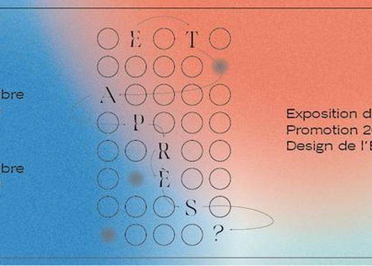 Et Après ? - Exposition Des Diplômés Du Master Design De L'École Boulle à Paris 6ème
