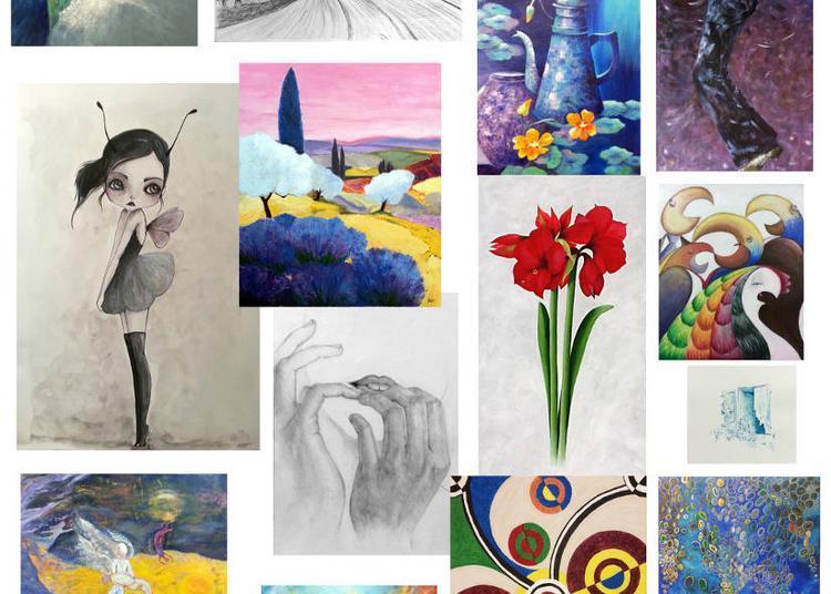 Expo 2017, dessins et peintures des cours de l'Atelier LT 37 à Veretz
