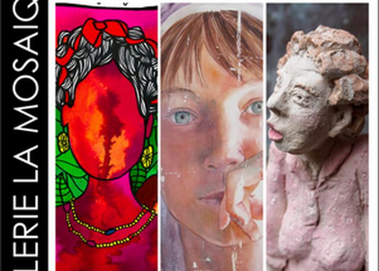 Expo peinture et sculpture Audrey The Artist, Nathalie Paradis, Borbotine Ciselet à Saint Jean