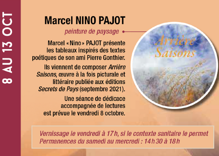 Exposition Marcel Nino Pajot à Lalinde