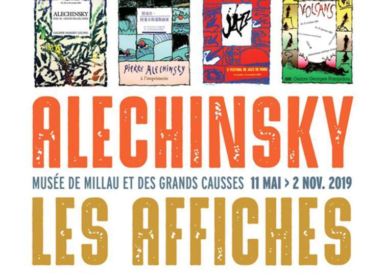 Exposition Alechinsky, Les Affiches à Millau