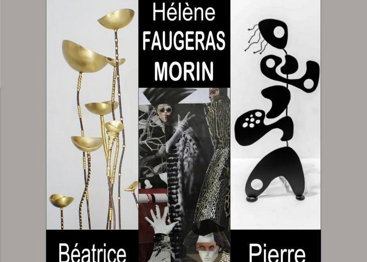 Exposition B. Begon-H. Faugeras Morin-P. Berger à Usson