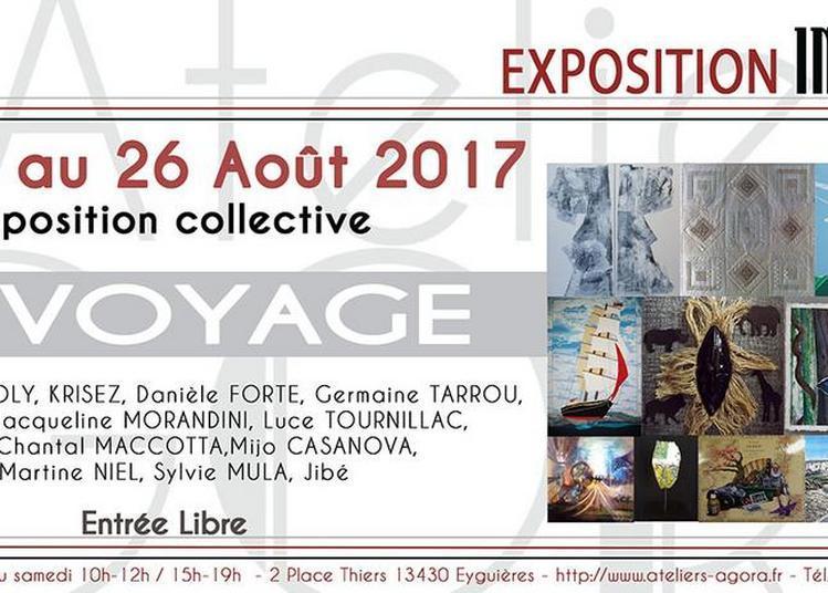 Exposition collective sur le thème du voyage à Eyguieres
