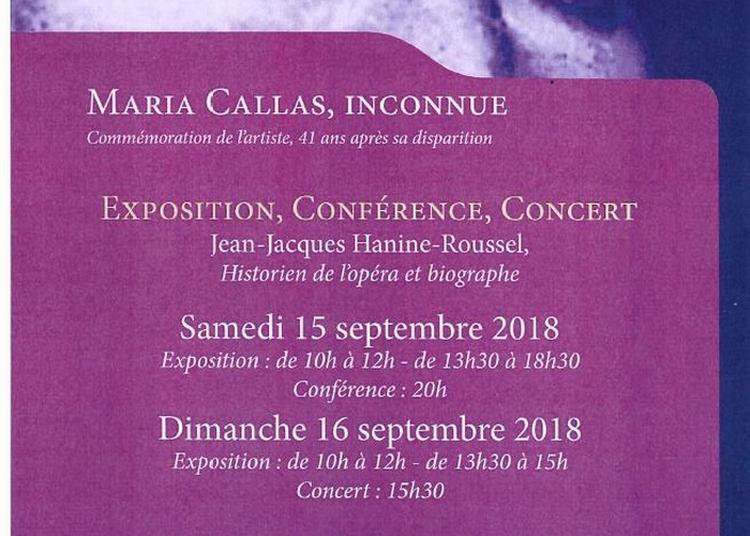 Exposition, Conférence Et Concert Maria Callas à Baume les Messieurs