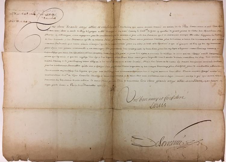 Exposition : Correspondances Diplomatiques Du Temps Du Grand Siècle à Paris 7ème