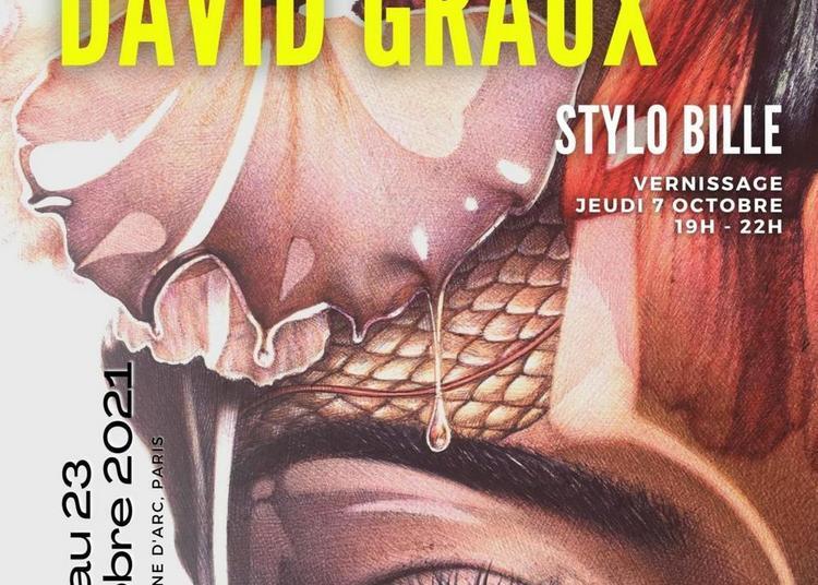 Vernissage de l'exposition David Graux, stylo bille à Paris 13ème