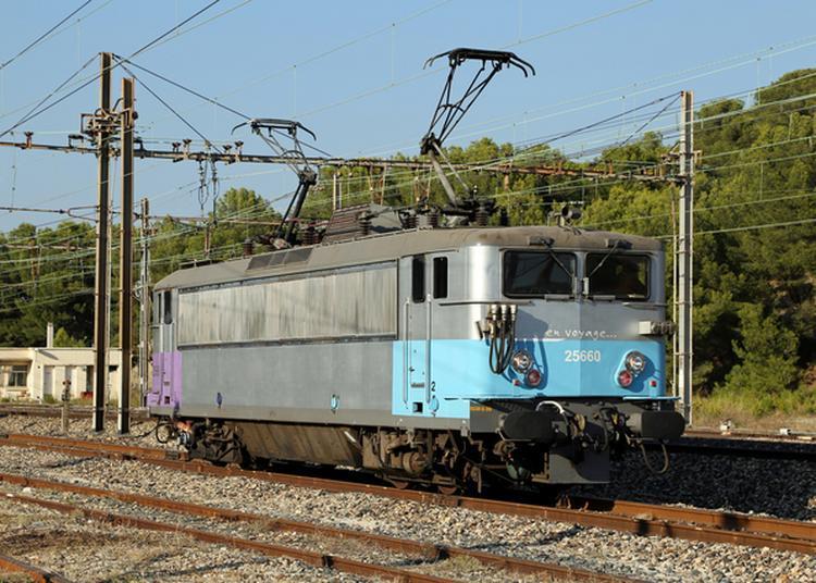 Exposition De Locomotives Historiques En Gare Sncf De Nice-ville