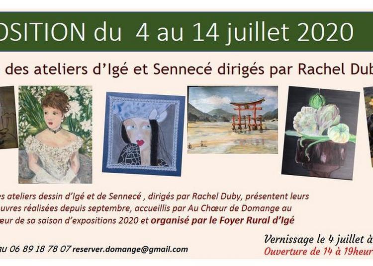 Exposition des artistes locaux à Ige