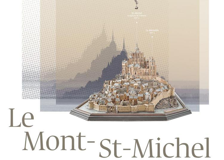 Le Mont St-Michel, regards numériques sur la maquette à Paris 7ème
