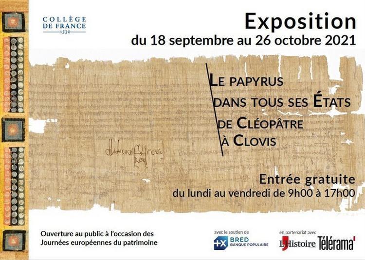Exposition Le Papyrus Dans Tous Ses États De Cléopâtre à Clovis à Paris 5ème